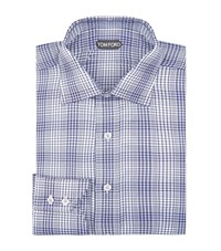 Tom Ford Houndstooth Cotton Shirt Male Navy
