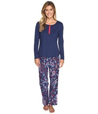 Jockey Pj Set With Flannel Pants Holiday Paisley Women's Pajama Sets Multi
