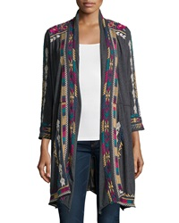 Johnny Was Colette Long Embroidered Coat Women's