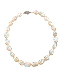 Belpearl White Baroque Freshwater Pearl Necklace