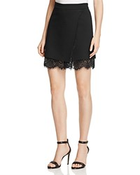 French Connection Lula Lace Trimmed Stretch Skirt Black