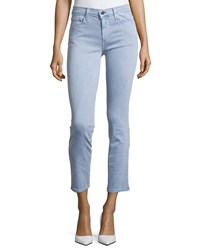 Joe's Jeans Straight Leg Twill Ankle Pants Violet Blue