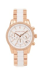 Michael Kors Ritz Watch Rose Gold White
