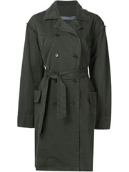 Raquel Allegra 'Military' Trench Coat Green