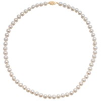 A B Davis Freshwater Cultured Pearl Necklace White