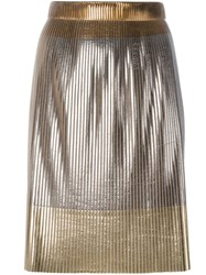 Golden Goose Deluxe Brand Metallic Pleated Skirt