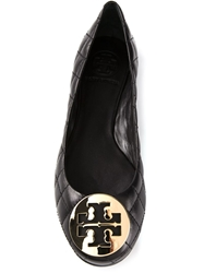 Tory Burch 'Reva' Quilted Ballerinas Black