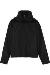 Theory Gabouray Cashmere And Stretch Wool Turtleneck Sweater Black