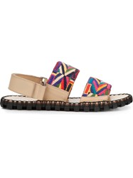 Valentino Garavani Embroidered Sandals Multicolour