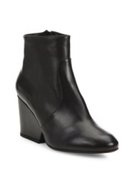 Robert Clergerie Toots Leather Wedge Booties Black