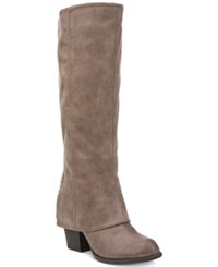 Fergalicious Lundry Wide Calf Cuffed Tall Boots Women's Shoes Sand