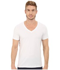 Hanro Cotton Superior V Neck Shirt White Men's Pajama