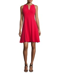 Nanette Lepore Sleeveless Fit And Flare Dress Red Size 12