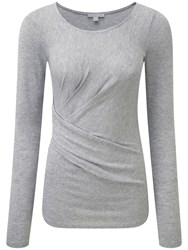 Pure Collection Miya Pleat Detail Top Silver Sparkle