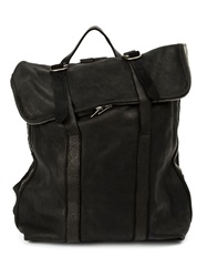 Guidi Foldover Backpack Black