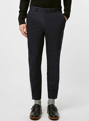 Topman Co Ord Collection Navy Skinny Trousers With Ankle Detail Blue