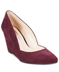 Inc International Concepts Zarie Suede Pumps Only At Macy's Women's Shoes Dark Plum