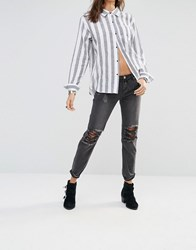 One Teaspoon Awesome Baggies Black Distressed Jeans Black