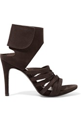 Pedro Garcia Sanna Suede Sandals Dark Brown