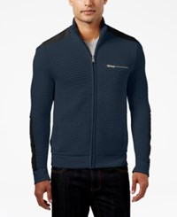 Inc International Concepts Men's Hale Ottoman Sweater Jacket Only At Macy's Basic Navy