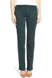 Nydj Marilyn Stretch Twill Straight Leg Jean Green