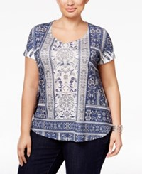 Styleandco. Style Co. Plus Size Printed Embellished Top Only At Macy's Folk Border