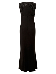 East Maxi Beaded Jersey Dress Black