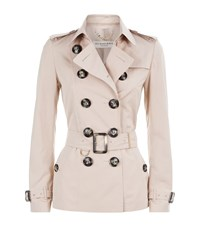 Burberry London Short Technical Trench Coat Female Neutral