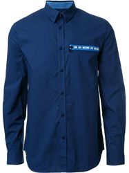 Love Moschino Chest Patch Shirt Blue