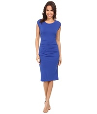Nicole Miller Midi Lauren Open Back Jersey Dress Bluejay Women's Dress
