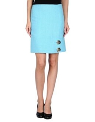 Versace Knee Length Skirts Turquoise