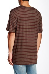 Daniel Buchler Short Sleeve Striped Tee No Color
