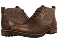 Ugg Brompton Tweed Grizzly Leather Men's Shoes Brown