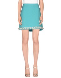 Moschino Cheap And Chic Moschino Cheapandchic Skirts Mini Skirts Women Turquoise