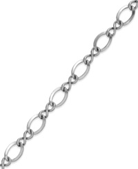 Rembrandt Charms Rhodium Plated Sterling Silver Charms Bracelet