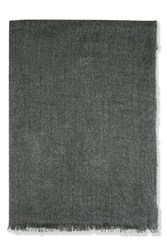 Topshop Plain Midweight Scarf Charcoal