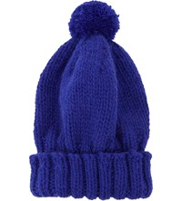 The North Circular Alpaca Bobble Hat Sapphire