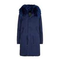 Mr And Mrs Italy Fur Lined Long Parka Female Blue