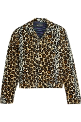 House Of Holland Leopard Print Velvet Jacket