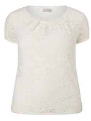 Windsmoor Contrast Lining Lace Top Ivory