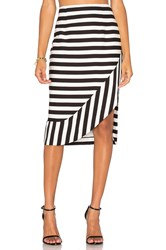 Ty Lr The Borsa Stripe Skirt Black And White