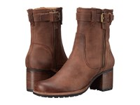 Trask Madison Dark Brown Oiled Calfskin Women's Boots