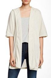 Painted Threads Ribbed Hooded Cardigan Beige