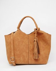 Oasis Tassel Tote Bag Tan