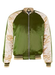 Topman Olive And Camel Souvenir Jacket Green