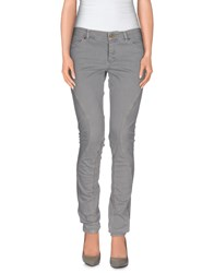 Superfine Denim Denim Trousers Women Light Grey