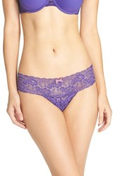 Skarlett Blue Women's 'Obsessed' Lace Thong Sapphire Reverie