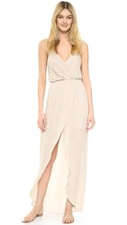 Rory Beca Jones Fishtail Wrap Gown Nude