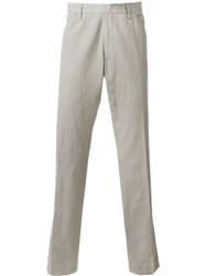 Z Zegna Straight Leg Trousers Nude And Neutrals