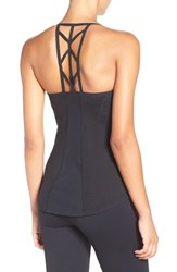 Zella Women's 'Midnight' Cutout Racerback Tank